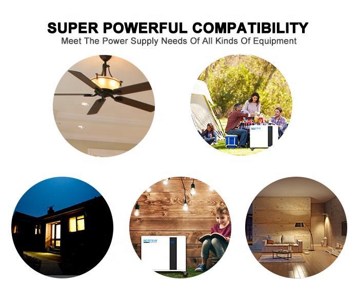 Meritsun Solar Battery 51.2V 100ah Lifepo4 Power System Supply Battery Solar Generator Commercial Lithium Ion Mppt 10YEARS