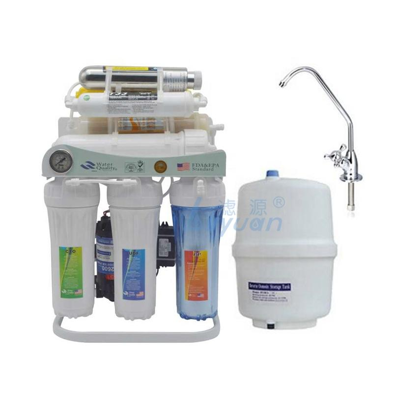 Domestic Under Sink 8 stage water filter reverse osmosis with Alkaline+UV+Resin