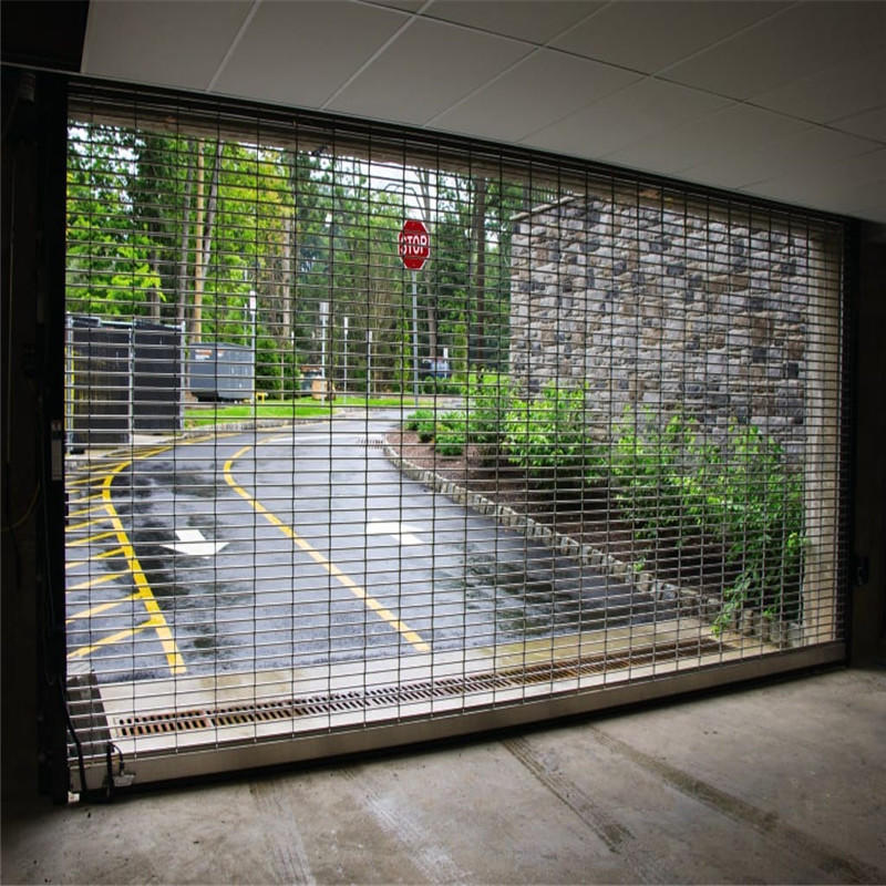 Grill gate design rolling shutter 201 stainless steel safety door grill design grill rolling shutter