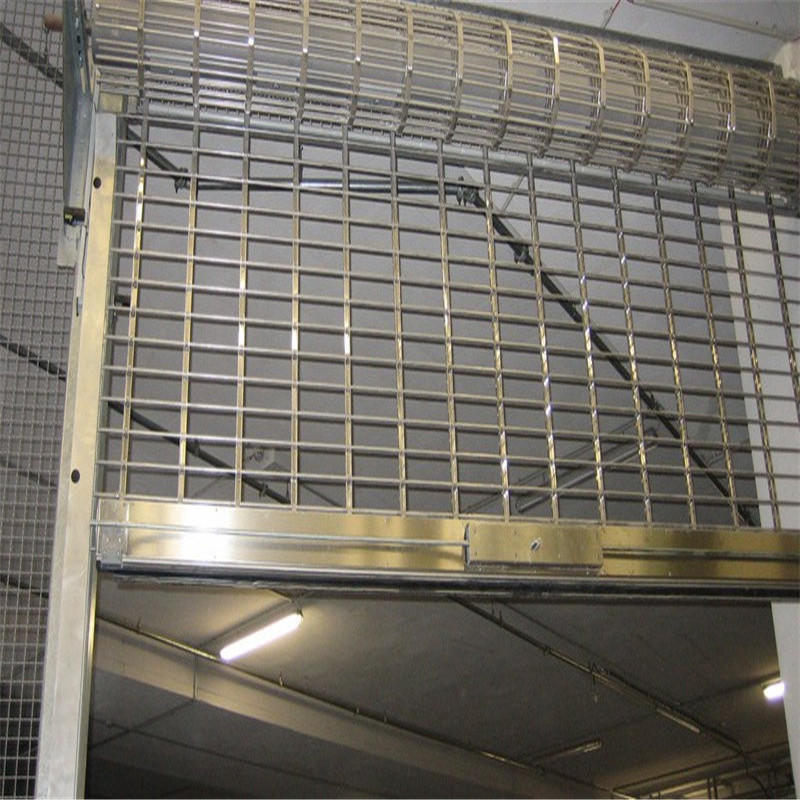 Grill gate design rolling shutter 201 stainless steel material 2600mm*2000mm with motor