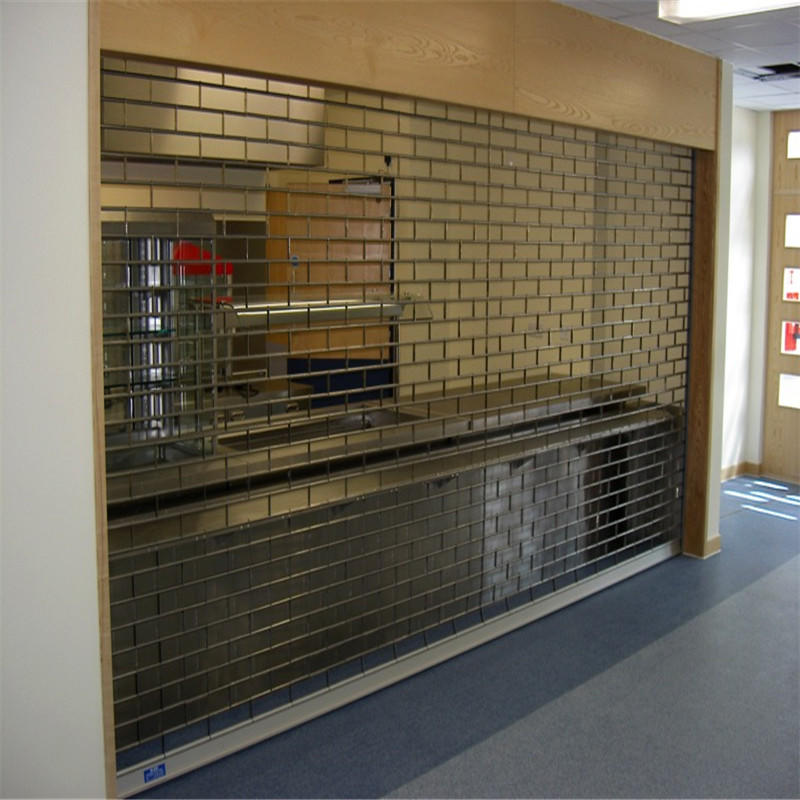 304 stainless steel 2000mm*2600mm rolling security grilles with remote controller