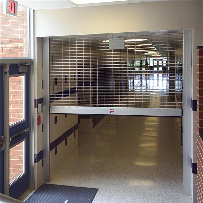 Automatic door grill design rolling shutter 201 stainless steel safety door grill design grill rolling shutter