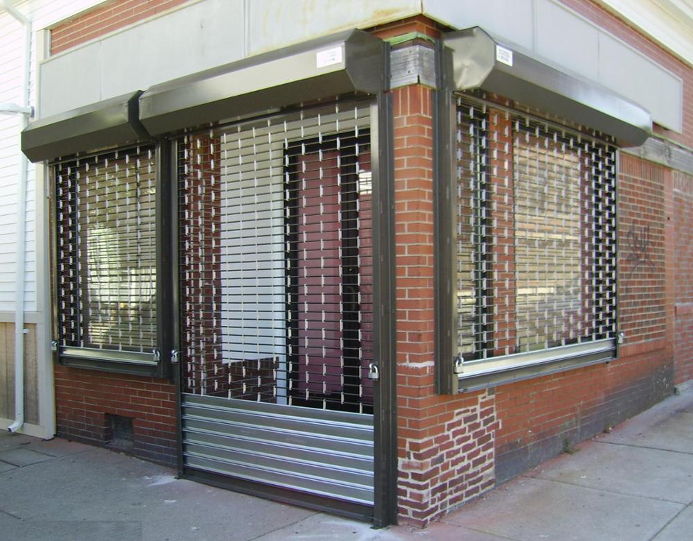 24th Advertising Modern Design Security Stainless Steel Grilles Roller Shutter Door for Commercial