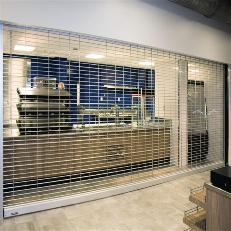 201 stainless steel 3250mm*2000mm automatic security grill rolling shutter grill gate model