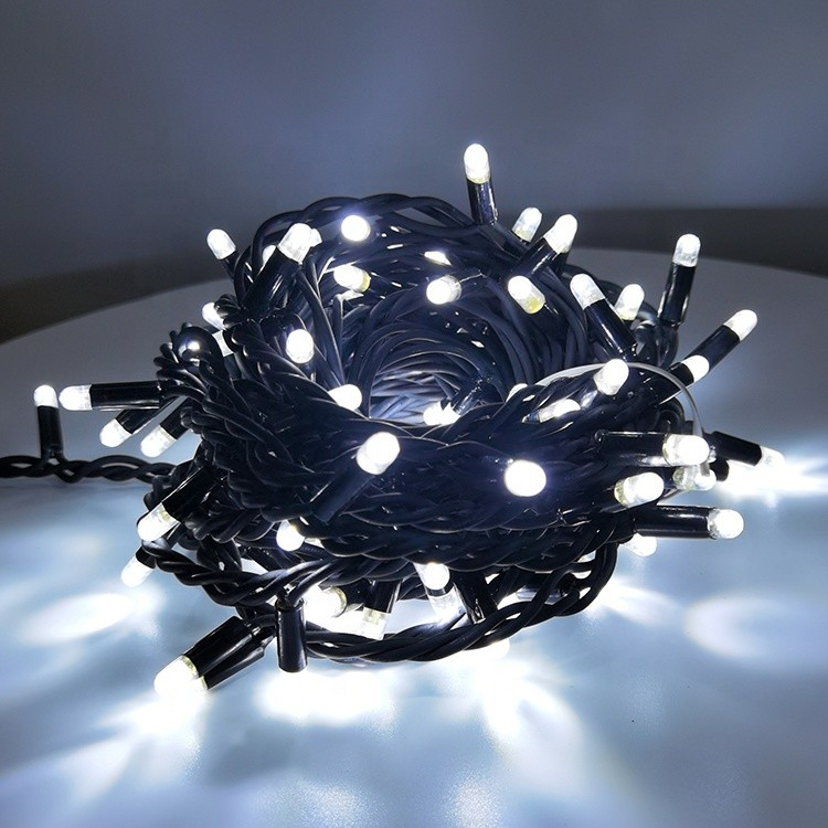 CE RoHS CB Approve IP65 Waterproof 180 Luminous Angle Holiday Project Light Rubber Wire LED String