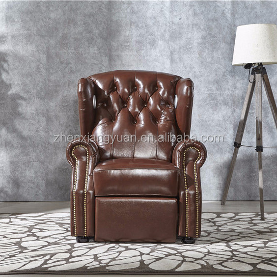 New styls Classic Scroll Arm Tufted deep Button Chesterfield leather chair