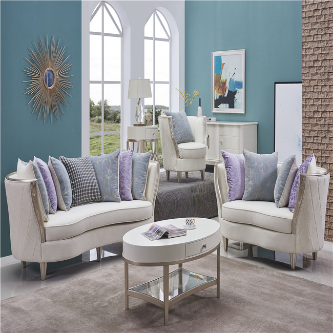 2019 Living room productsGrey Fabric luxury american Couch