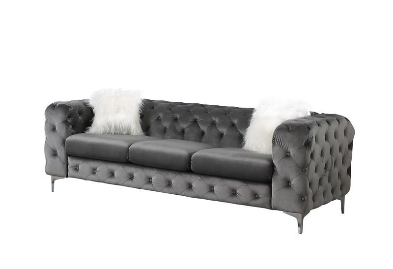 2021 modern chesterfield sofa velvet greylove seat