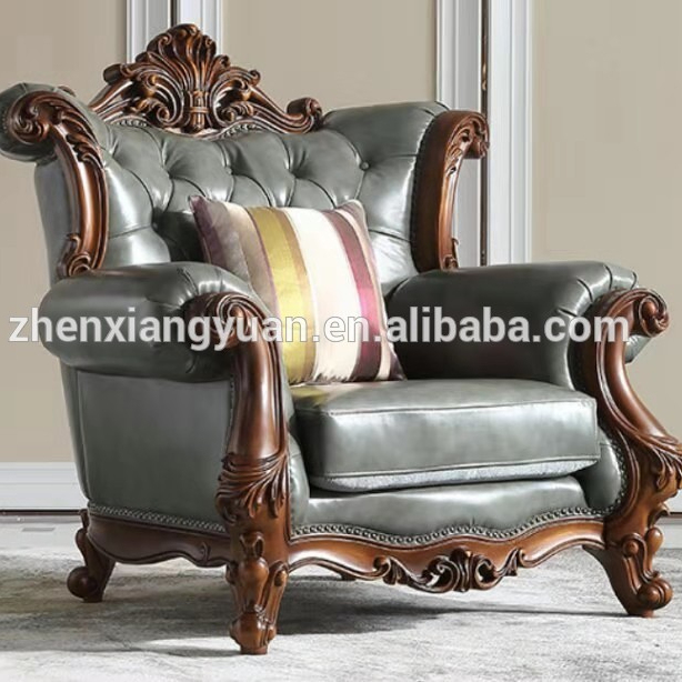 Luxury chesteriled styles American leather Antique button sofa for living room