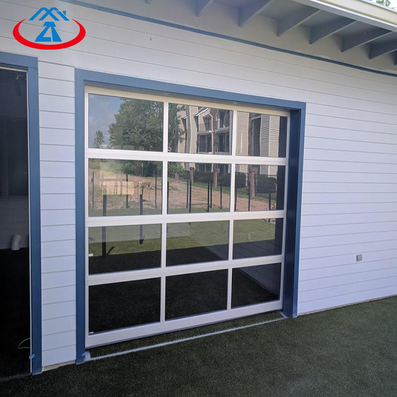 12feet * 8 feet automatic aluminum glass garage door with remote control