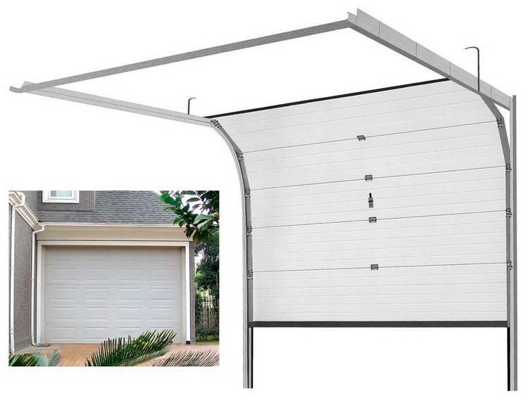 8x7 Electric Aluminum With PU Overhead Sectional Garage Door