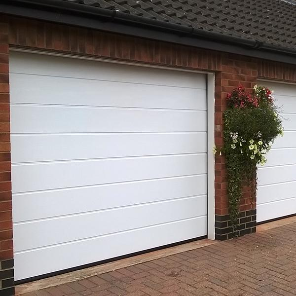 Good Quality Automatic With PU 50 mm Beautiful Appearance Garage Overhead Sectioanl Door