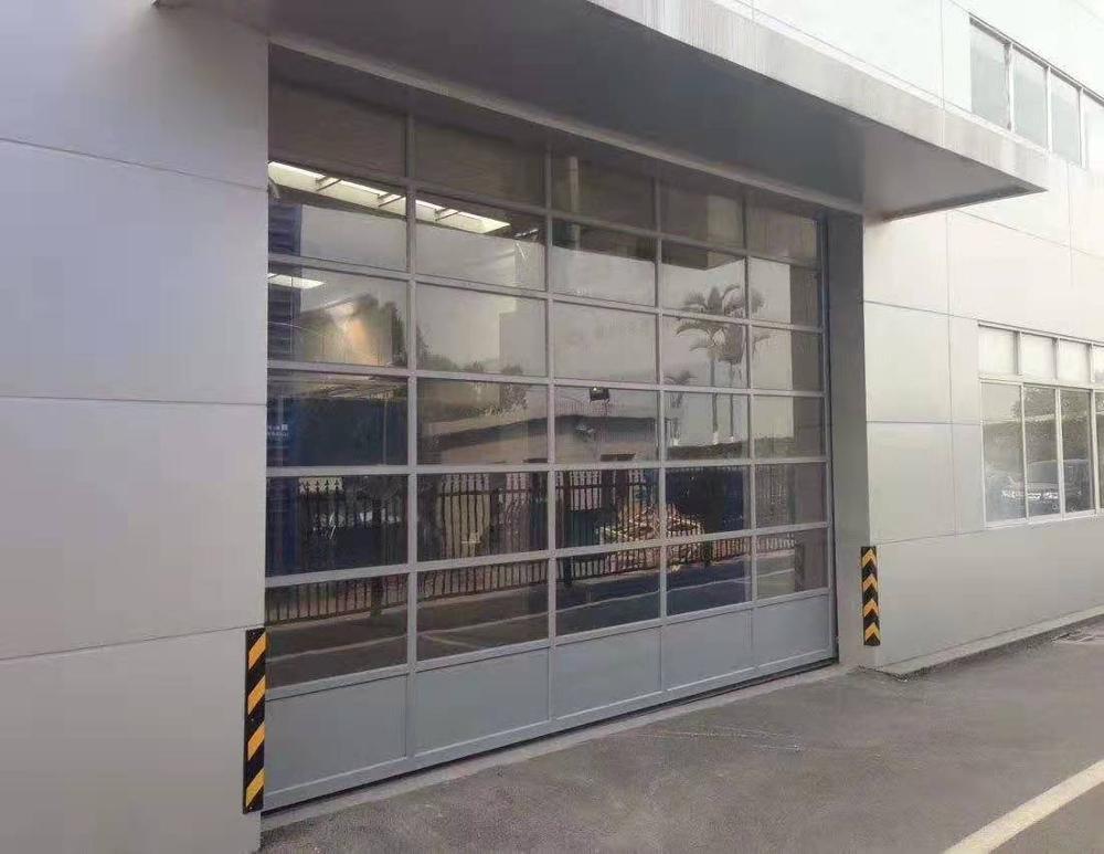 New design high quality aluminum frame transparent glass garage door