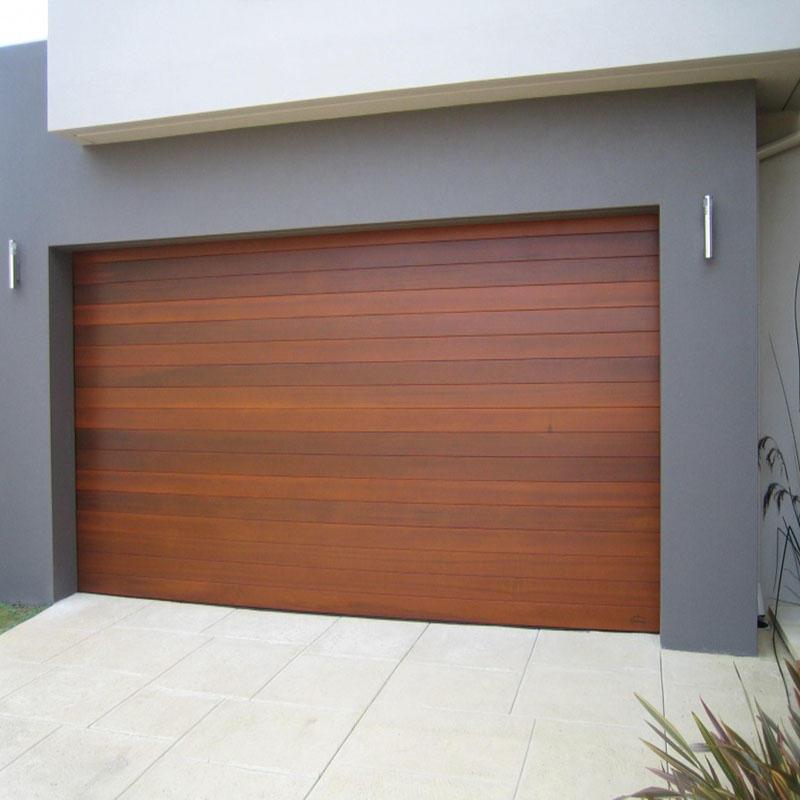 Wood Grain Color Powder Coating Factory Price Electric Aluminum Rolling Garage Door