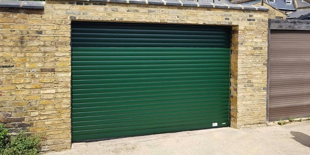 Green Color Factory Price Double Layer Slat Aluminum Roller Shutter Garage Door Manufacturer