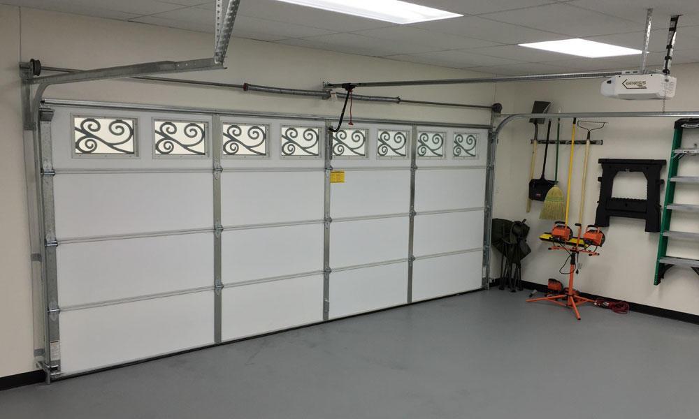 8 feet * 7 feet Automaticaluminum panel sectional overhead garage door