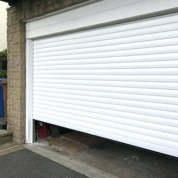 White Color Vertical Electric Best Quality Double Layer Slat Beautiful Appearance Aluminum Roller Garage Door