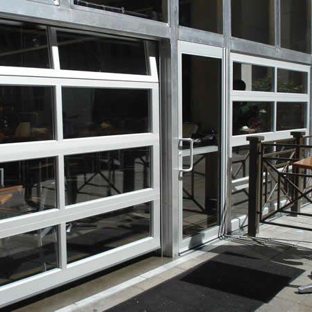 Insulated Exterior Tempered Glass Aluminum Security Glass Garage Door