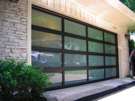 Popular style garage door customized automatic glass garage door