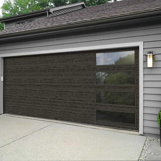 Garage Position and Automatic Open Style Sandwich Panel Garage Door