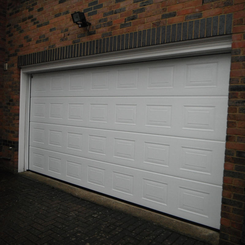 Factory Price 7' Wide and 8' High Steel Overhead Sectional Garage Door with PU