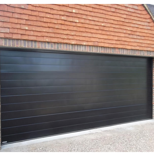 Factory Price Heat Prevention Cold Insulation Steel with PU Overhead Sectional Garage Door