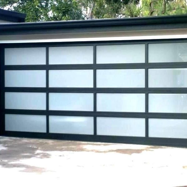Electric Overhead Sectional Garage Door with Aluminum Material And Glass