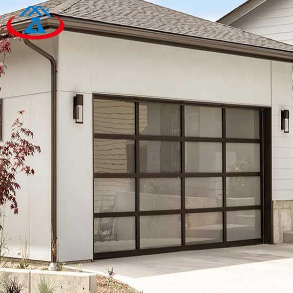 Factory Price Ready To Ship Beautiful Appearance Aluminum Material With Glass Overhead Sectional Garage Door