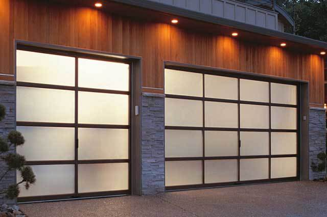 Black Glass Mirror Beautiful Appearance Glass Overhead Sectional Garage Door Electric Good Quality Garage Door