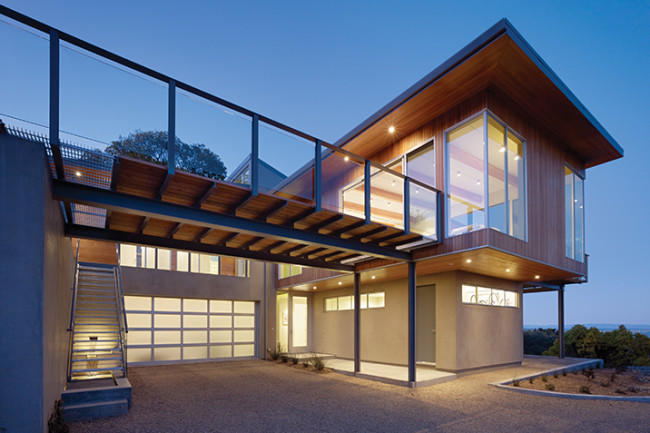 Modern Villa Insulated Automatic Frosted Transparent Aluminum Tempered Glass Garage Doors