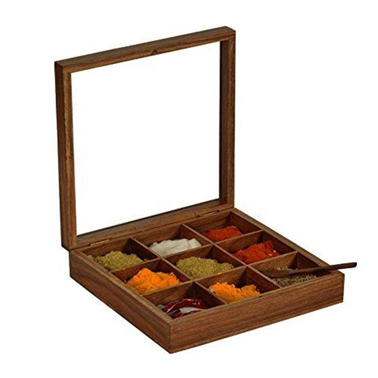 Hot sale Customized fancy antique wooden spice box
