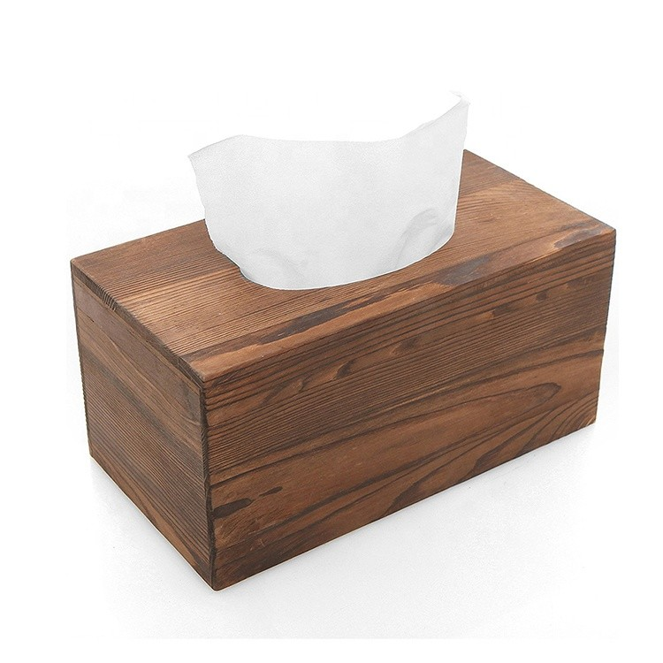Hot sale custom unfinished Safe and convenient wooden tissue box