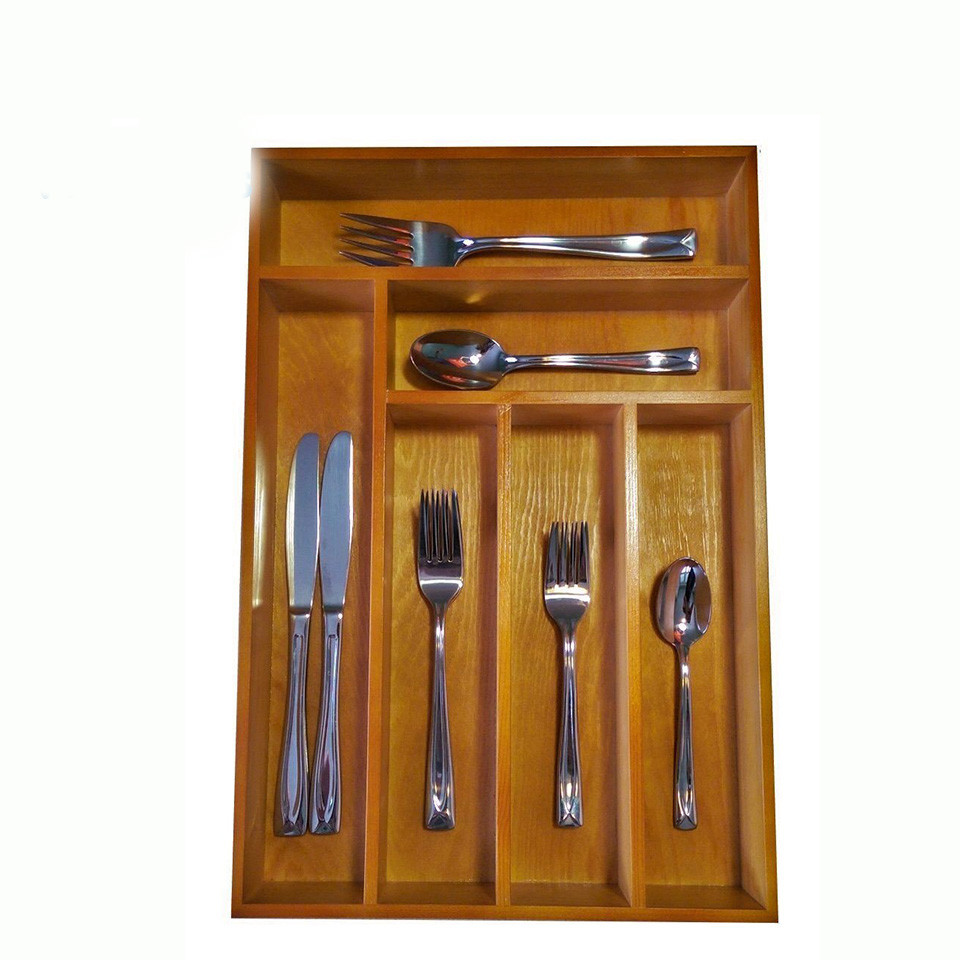 Cheap usefulcraft box packing wooden boxbamboo tray for cutlery set