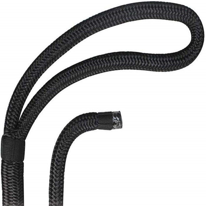 5/8 inch black double braided dock lines for boat