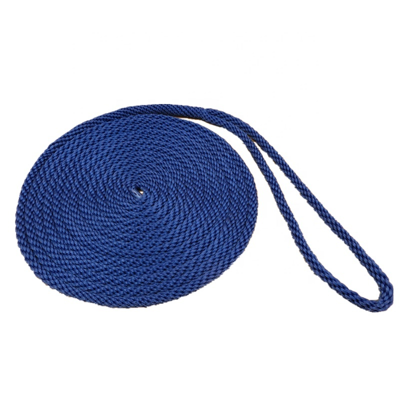 Hot selling Boat Accessories UV Resistance Mooring Rope Nylon Polyester Dock Line
