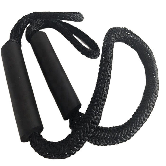 best selling 4ft bungee dock line rope for jet ski black color in 2 pieces in one clamshell