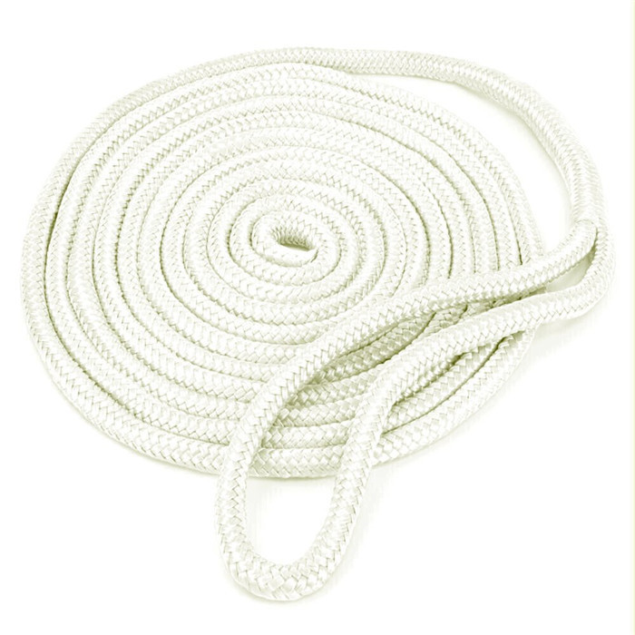 12mm Double Braid Nylon dock linewhite yacht rope
