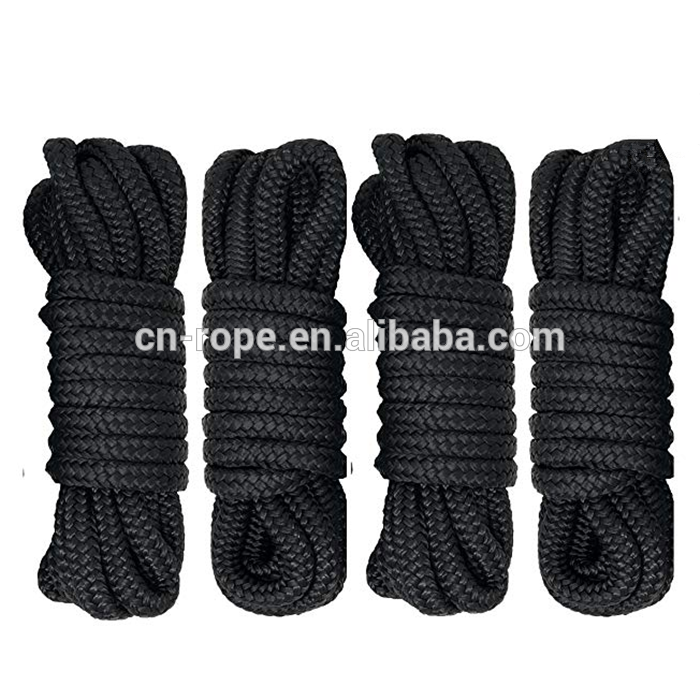4count 3/8x15ft double braided nylon dock lineyacht mooring rope