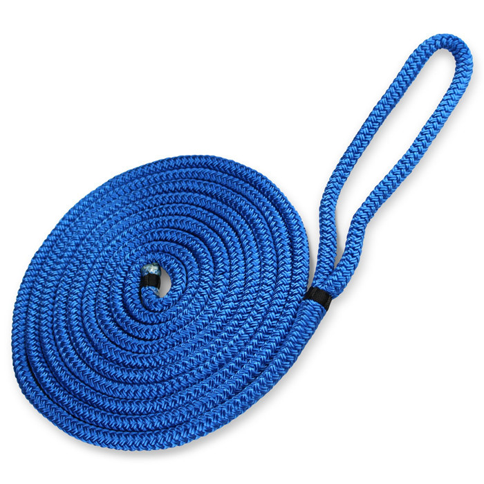 dock linesdouble braided blue color