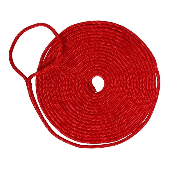 Top Performance double braided thick diameternylon polyester mooring dock linefactory price