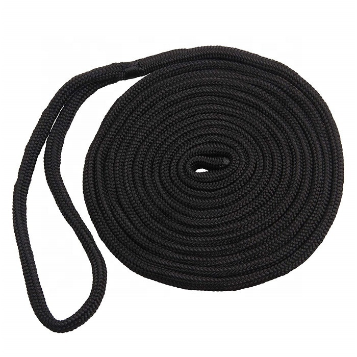 1/2 inch*15ft black dock lines double braided