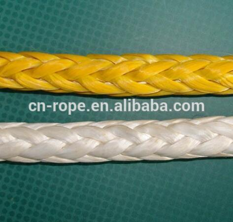yellow UHMWPE life-saving line water rescue rope