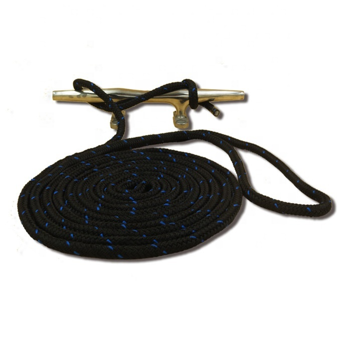 4 piece packaged marine rope dock line