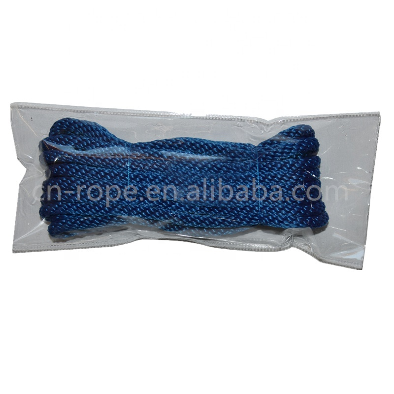 UV Resistance Polyester Dock Line Solid Braided Boat Accessories Mooring Rope