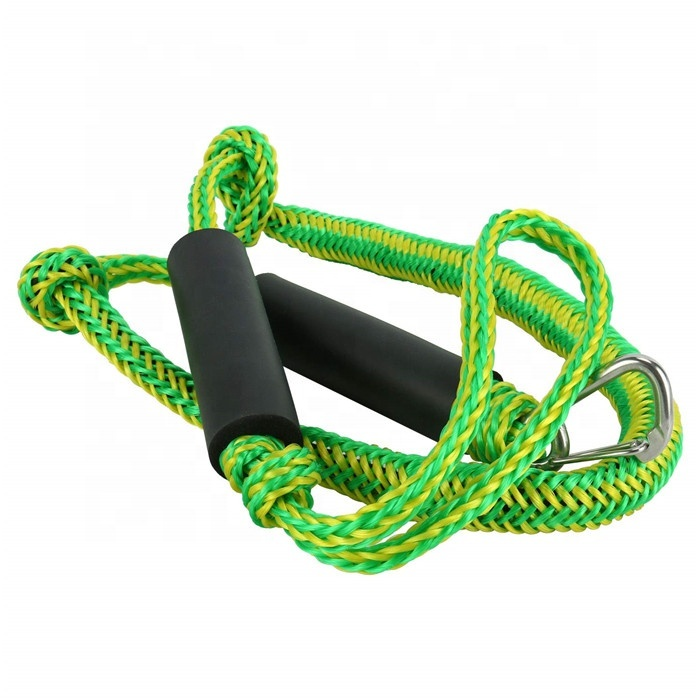 PWC bungee dock line yacht braid rope with stainless steel clip