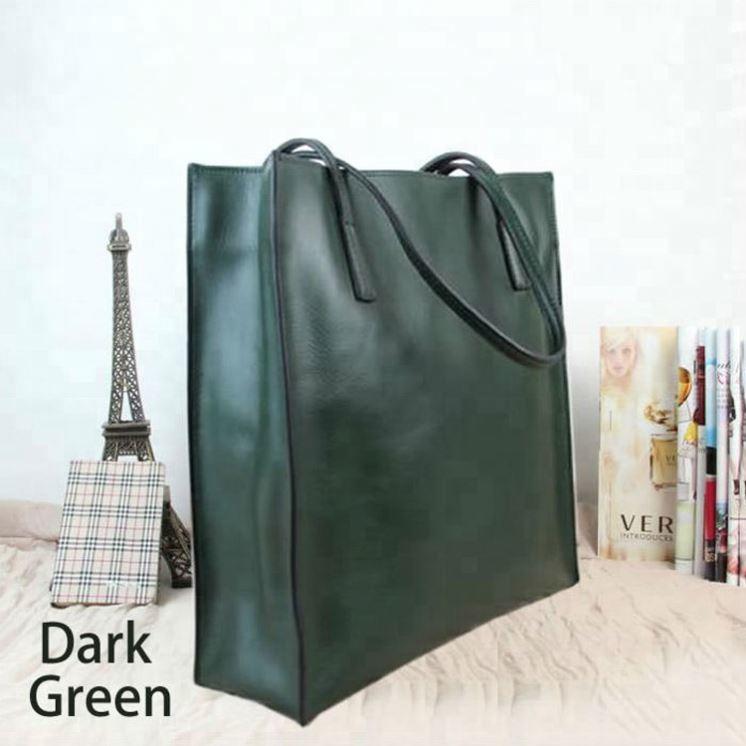 Genuine Leather Women's Shopping Tote Bag Handbag
