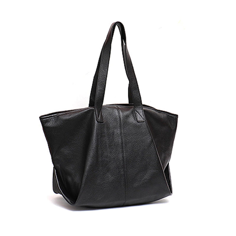 Casual Fashion Leather Tote Bag For Women Litchi Pattern Cow Leather Ladies Large Shoulder Bag Female Soft Handbag Hobo Purse