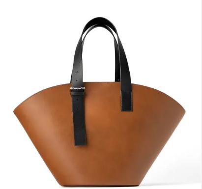 Factory Brand Custom Large Capacity Genuine Leather Tote Bag Handbag Shoulder Bag For Ladies