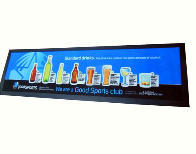 2020 new arrival custom bar runner mat, natural rubber bar mat, bar accessory