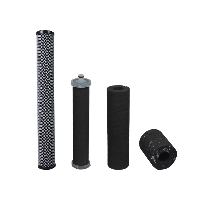 Coconut material 10 20 inch carbon block filter cartridge for 5 micron water purification
